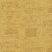 Wine Night - Words Tone on Tone Mustard Yardage