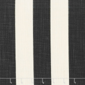 "Urban Cottage - Wovens Slub Stripe Ivory Black 54"" Wide Yardage"