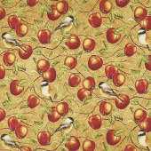 Bounty of the Season - Apples Apple Metallic Yardage