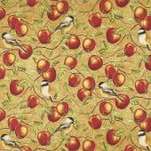 Bounty of the Season - Apples Apple Metallic Yardage