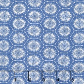 Indi-glow - Hexagons Blue Yardage
