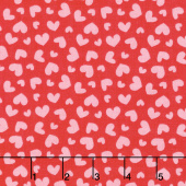 Butterflies and Berries - Butterflies Hearts Hot Pink Yardage