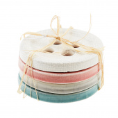 Missouri Star Ceramic Button Coaster Set - Set of 4