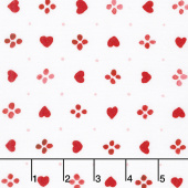 Sugar Berry - Sweethearts Radiant Cherry with Red Glitter Yardage