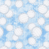 Novelty - Volleyball Blue Yardage