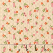 Sugar Pie - Posies Yellow Yardage