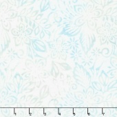 Icing on the Cake Batiks - Packed Floral Mix Light Blue Yardage