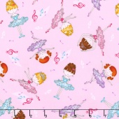 Bella-rina - Allover Ballet Girls Pink Yardage