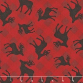 Plaid for the Holidays - Deer Toss Red Yardage