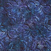 Artisan Batiks - Aviva Leaves Midnight Yardage