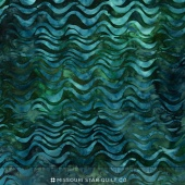Tigerfish Batiks - Waves Peacock Yardage