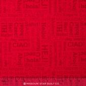 Our World - World Hello Red Yardage