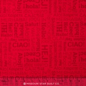 Our World - World Hello Red Yardage