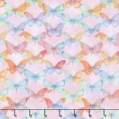 Papillon Parade - Tonal Butterfly Pink Yardage