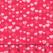 Love Letters - Small Hearts Allover Red Yardage