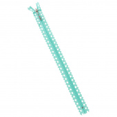 "Missouri Star Fancy Zips - 14"" Star Aqua"
