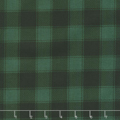 Christmas Cabin - Buffalo Check Green Yardage