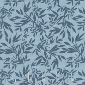 Blooms and Bobbins - Leaves Blue Yardage