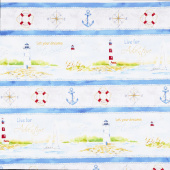 Harbor Lights - Repeating Stripe Multi Yardage