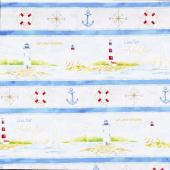 Harbor Lights - Repeating Stripe Multi Yardage