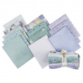 Totally Tulips Teal Pearlized Fat Quarter Bundle
