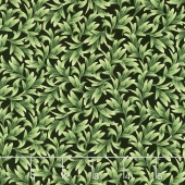 Wild Orchid - Leaves Black Yardage