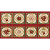 Holiday Flourish 12 - Snowflakes Holiday Metallic Panel