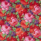 Kaffe Fassett Collective - Stash Scarlet Florals Luscious Magenta Yardage