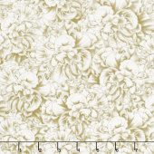 Flower Show - Packed Begonias Ivory Yardage