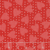 Red-iculously in Love - Heart Felt Tonal Red Yardage