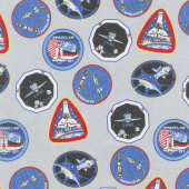 Out of this World with NASA - Nasa Patches Gray Yardage