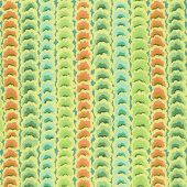 Kaffe Fassett Collective - February 2021 Cool Garlands Green Yardage