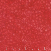 Cherry Sweet Batiks - Dandelion Burst Red Yardage