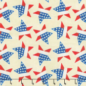 Land of the Free - Tossed Stars Cream Yardage