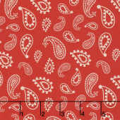 Cowboy Country - Bandana Red Yardage
