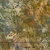 Artisan Batiks - Cornucopia 8 Leaf Sprigs Earth Yardage