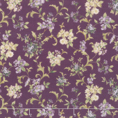Meredith - Flowers and Vines Plum Yardage