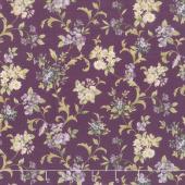 Meredith - Flowers and Vines Plum Yardage