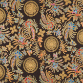 Treasures of Alexandria - Multi Palms Multi Metallic Yardage