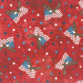 Stonehenge Stars and Stripes VIII - Soaring Eagles Red Multi Yardage