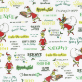How the Grinch Stole Christmas 8 - Words Holiday Yardage