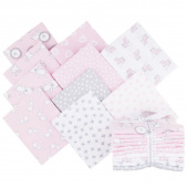 Penned Pals Flannel Pink Colorstory Fat Quarter Bundle