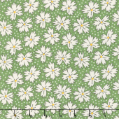 Play All Day - Blossoms Green Yardage