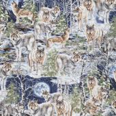 Animals - Howl at the Moon Wolf Yardage