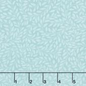 Alphonse Mucha - Leaves Blue Digitally Printed Yardage