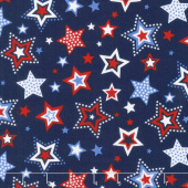 Red, White and Starry Blue - Large Stars Navy Yardage