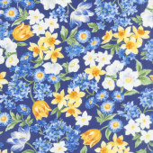 Summer Breeze VI - Spring Garden Navy Yardage