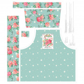 Poppy and Posey - Floral Apron Mint Panel
