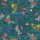 Transformers - Circuit in Aqua Yardage