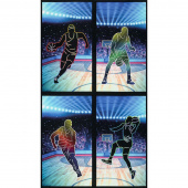 Sports Life - Basketball Black Digitally Printed Panel